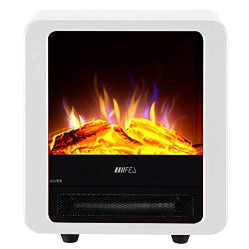 Calentador eléctrico Chimenea, independiente Mini Lugar Estufa eléctrica calentador de interior, 2...