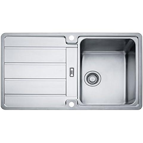 Franke Hydros HDX 614 - Fregadero de acero inoxidable, liso, fregadero de cocina, fregadero