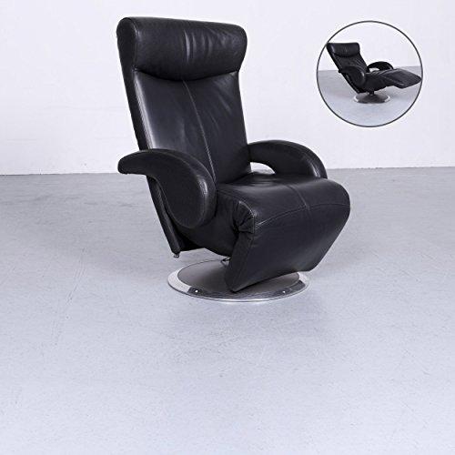 Leolux Helical Designer Leder Sessel Schwarz Echtleder Funktion Relax#6366 Leichte Gebrauchsspuren