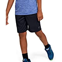 Under Armour Boy's Prototype Wordmark Shorts, Black (Black/Pitch Grey), Medium