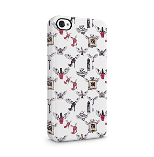 Make Up Girly Pattern Apple iPhone 5 , iPhone 5S , iPhone SE Snap-On Hard Plastic Protective Shell Case Cover Custodia Make Me Happy