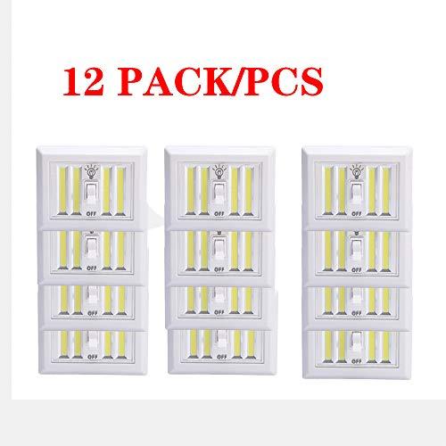 Aione Superhelle, schalterbatteriebetriebene LED-Nachtlichter COB LED-Schnurloser Lichtschalter Touch Night Utility Wall-Funkhalterung unter dem Schrank,3 (Flug 232)