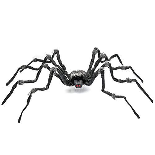 Prextex.com Halloween Spinne/Tarantel mit roten Augen, verwunschene Halloween-Dekoration