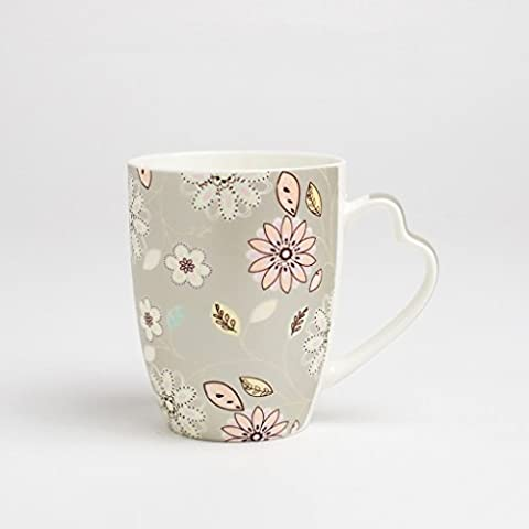 Taza europea simple cerámica par de Copa Copa de leche para Ministerio Copas ( Color : Gray )
