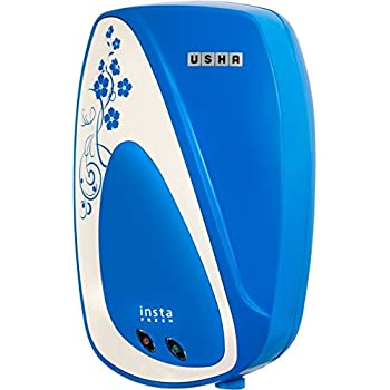 Usha Instafresh 1-Litre 3000-Watt Instant Water Heater (Cyan Flower)