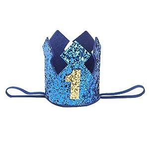 K-youth Diadema Corona Niña Cumpleaños Sombrero Diademas Niñas 0 a 3 Años Cintas de pelo Bebe Recien Nacido Venda de… 10