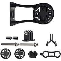 Teabelle - Soporte para Linterna de Bicicleta Compatible con Garmin Edge Cat Eye Bryton GPS, GoPro Action, Negro
