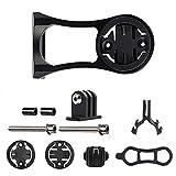 Bostar Compatible Holder Soporte para Bicicleta Linterna Ordenador para Garmin Edge Ojo de Gato para Bicicletas Bryton GPS GoPro Acción (Negro)