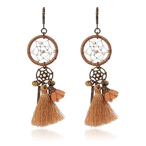 (DuDuDu Kunst Dream Catcher Net Quaste Ohrringe minimalistischen kreative schöne Blume Ohrringe)