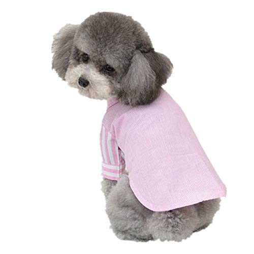 AMURAO Sommer-Haustier-Hundehemd-Kleiner Welpe kleidet Chihuahua-Pudel-Pomeranian-Katzen-atmungsaktives Hundekostüm -