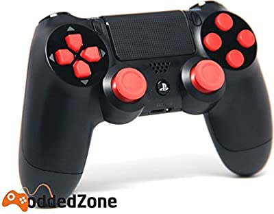 """Black/Red"" PS4 Rapid Fire Modded Controller for COD Black Ops3, Infinity Warfare, AW, Destiny, Battlefield: Quick Scope, Drop Shot, Auto Run, Sniped Breath, Mimic, More"