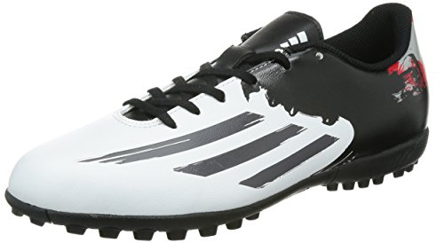 adidas Messi 10.4 Astroturf Mens Football Boots (White-Black-Red) White