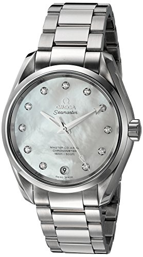 Omega Femme 'aqua Terra' Suisse à quartz montre en acier inoxydable, couleur: Les LED Offrent (modèle: 23110392155002)