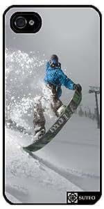 Coque Iphone 5/5S – Snowboard station de ski - ref 1160