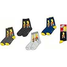 Lote de 3, 6, 9pares de calcetines The Simpsons–a juego–me4263.