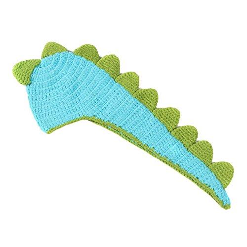 Aivtalk Baby Kostüm Strick Mütze Hüte Neugeborene Dinosaurier Design Fotografie Props Requisiten Baby Strickkostüme Bekleidung passen 2-8 (Kostüme Dinosaurier Kleinkind)