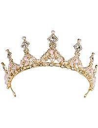 LaoZanA Donna Corona con cristalli Tiara Nuziale Diadema da Sposa Regina  Principessa 5828e11c41a9