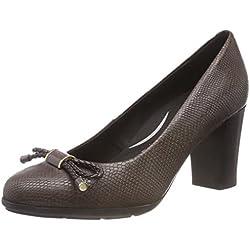 Geox D Annya A, Zapatos de Tacón para Mujer, (Chestnut C6004), 40 EU