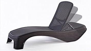 Keter - Chaise longue en résine Atlantic marron: Amazon.fr: Jardin
