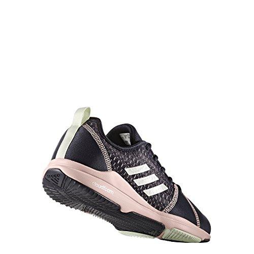 adidas Damen Arianna Cloudfoam Laufschuhe Blau (Legend Ink/Silver Metallic/Icey Pink)