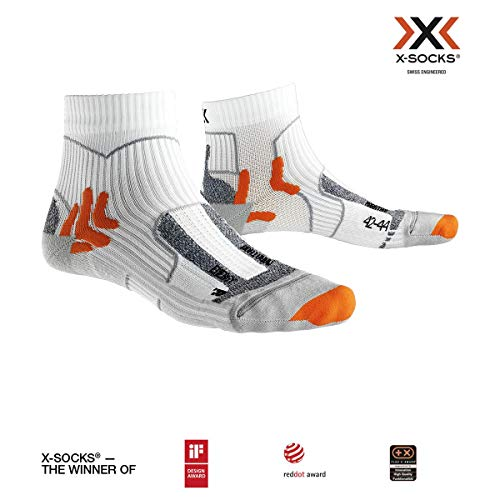 X-Socks Marathon Energy Socks, Unisex - Adulto, Arctic White/Pearl Grey, 42-44