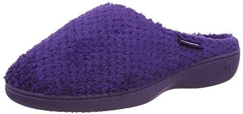 isotoner-isotoner-popcorn-terry-mule-womens-open-back-slippers-purple-purple-4-uk-37-eu