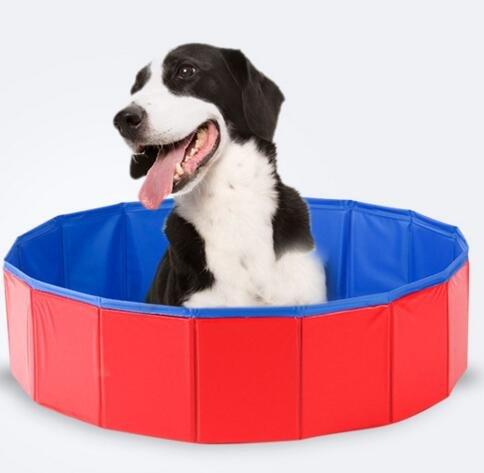 Cozywind Doggy Hunde-Pool Swimmingpool Planschbecken Badewanne Zusammenklappbar für Große Hunde, Riesige Hunde (120CM(30*120))