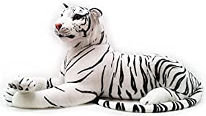 160cm Large Plush Quality White Tiger Soft Toy Stuffed Animal Cuddly Teddy Gift by BSL