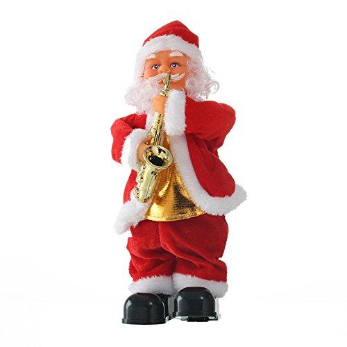 Befitery Père Noël santa chantant et dansant de Noël décoration avec musique (Saxophone)