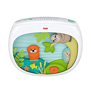 Fisher-Price FXC59 – Spieluhr mit Sternenhimmel Projektor Einschlafhilfe für Babys, Babyerstausstattung ab Geburt