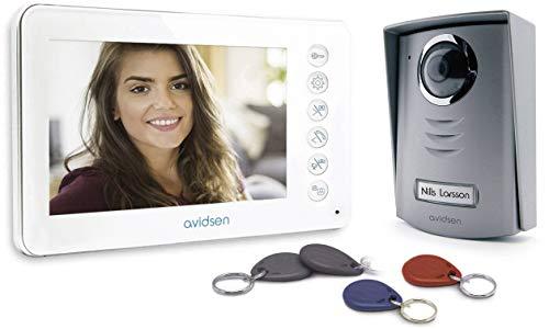 AVIDSEN 112249 Videocitofono bifamiliare a Colori LCD 3,5' 4 - fili
