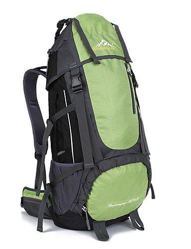 HWB/ 60 L Tourenrucksäcke/Rucksack / Travel Organizer Legere Sport Draußen Wasserdicht / Schnell abtrocknend / tragbar / Atmungsaktiv andere Green
