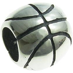 Anillo Plata de Ley baloncesto European Style Bead Charm