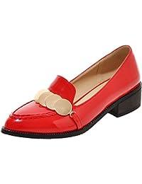 ENMAYER Mujeres Cuadrado Hermoso Con la Selección de Antideslizantes Súper Brillante Caramelo Zapatos de la Manera Ocasional