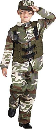 Special Kostüm Junge Forces - Unbekannt Seiler24 Kinder Militärkostüm Soldatenkostüm Bundeswehr Alter 10-12