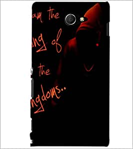 PrintDhaba Quote D-3474 Back Case Cover for SONY XPERIA M2 (Multi-Coloured)