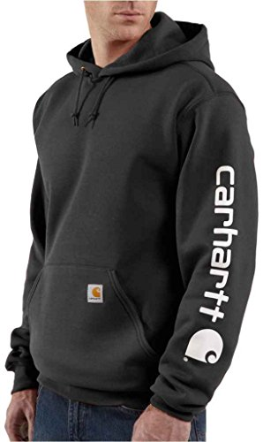 Carhartt Signature–Sweatshirt mit Kapuze Herren, mit Carhartt Logo Black