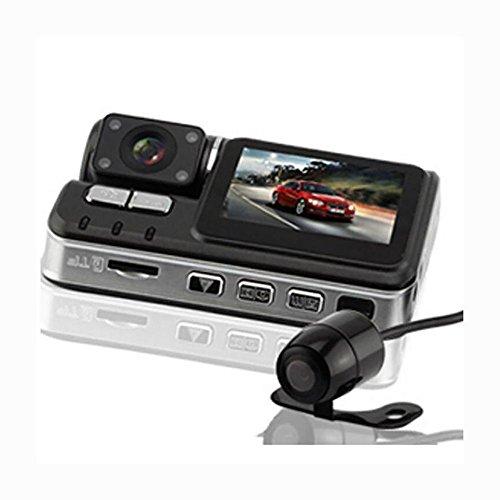MIAO Recorder fahren - Mini 170 ° Weitwinkel 1080P HD Nachtsicht vorne und hinten Dual Objektiv Drive Recorder (Spannung von 5V, Strom von 2A)
