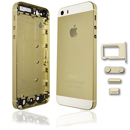 Rückschale Akkudeckel Back Cover Housing Gehäuse für IPhone 5S Middle Frame Weiß Gold Gold Gehäuse Cover