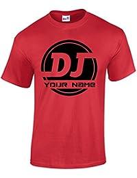 Bang Tidy Clothing Camiseta de Hombre Personalizada con Logo de DJ AÑADE TU Nombre
