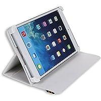 "Danystar® Custodia Cover Universale / Regolabile 8'' per Tablets come Acer Iconia W3 , Alcatel One Touch Pixi 8, Archos 80 Xenon , Archos G9 Turbo 8 , Archos 80 Titanium , Asus Zenpad 8.0 Z380KL , Asus ZenPad S Z580CA, iRULU eXpro 1S Tablet (X1S) 8"", Huawei S8, Huawei M2-801L, Huawei MediaPad T1 8.0 , Mediacom Smart Pad 875 S2 , Mediacom SmartPad 8.0 S4 , Mediacom WinPad 8.0 W801, Time2® 8"", Trekstor SurfTab Ventos 8.0 - Accessori per Tablet Danystar (Bianco)"