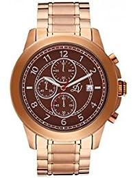 Reloj hombre Louis Villiers reloj 47 mm de acero color marrón y pulsera rosa dorado en acero LV1014