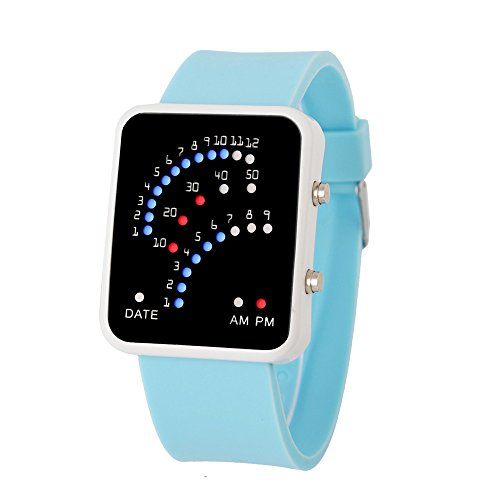 NEEKY Damen Armbanduhr,Sportuhren,Smartwatch,Für Unisex Fitness Uhren - Herren Futuristic Style Multicolor LED Sport-Watch