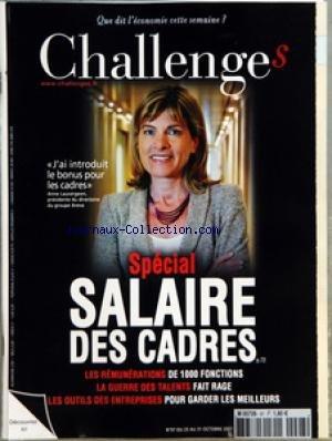 CHALLENGES [No 97] du 25/10/2007 - AVANT-PREMIERES - CONFIDENTIEL L'ELYSEE VA REVOIR LA DECENTRALISATION - POLITIQUE CE QUE BACHELOT DELEGUE A LAPORTE - MEDIAS A QUAND LA FUSION A FRANCE TELEVISIONS - BOURSE NOS CONSEILS DE LA SEMAINE - GRAPHIQUE LE BOND DE LA BOURSE DE SHANGHAI - L'EVENEMENT - LAGARDERE DEFEND SON ROLE A EADS ARNAUD LAGARDERE ENTEND METTRE FIN AUX MANOEUVRES DE DESTABILISATION A SON EGARD - TETES D'AFFICHE - RENCONTRE FRANCK PROVOST PRESIDENT DE PROVALLIANCE LE 19 OCTOBRE A PA