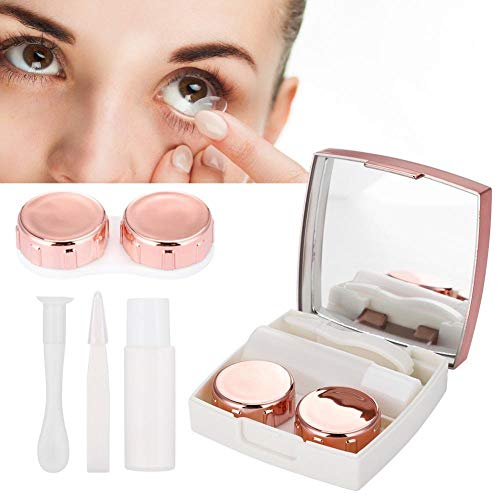 Reasonable Mini Mirror Contact Lens Travel Kit Easy Carry Case Storage Holder Container Box To Ensure Smooth Transmission Men's Glasses