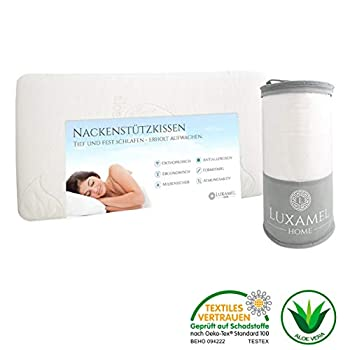 Luxamel pillow, neck pillow with aloe vera pillowcase, Hws