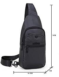 DoubleVillages -Mochila de Hombro Bolsas de Hombro / Bolso Pecho / Bolso bandolera Bolsa Pecho / Bolso Deportivo/ Bolsa Sling CrossBody Messenger Bag -impermeable (Negro)