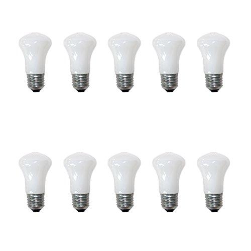 10 x Krypton 100W E27 Pilzform opal weiß 100 Watt Glühbirne Glühlampe Glühbirnen - Matt Weißen Kegel