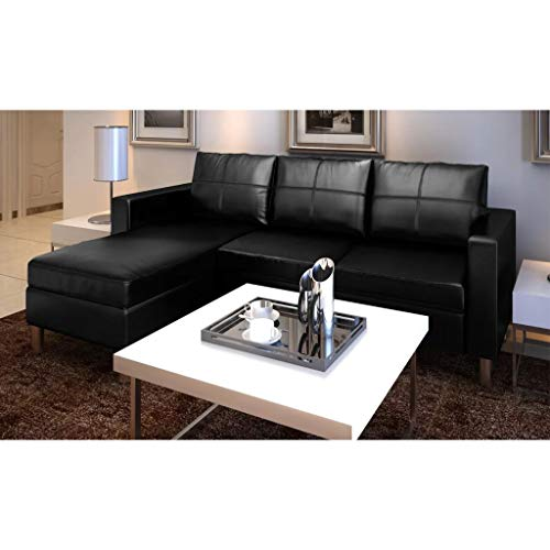 tiauant Mobiliario Sofás Sofa Modular de 3 plazas de Cuero ...