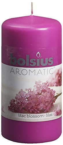 Aromatic-Lilac-Blossom-Pillar-Candle-Paraffin-Wax-Lilac